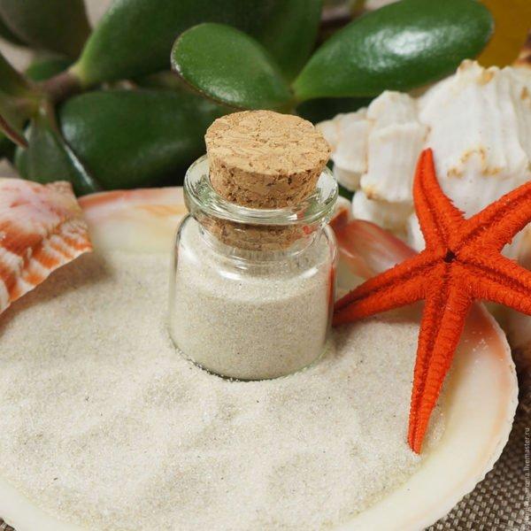 Песок декоративный белый