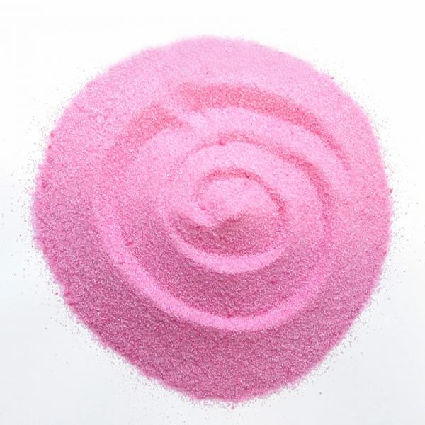 Песок декоративный розовый