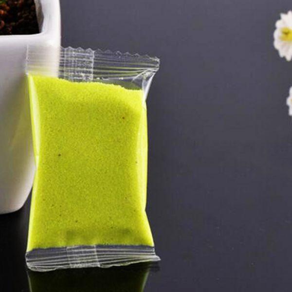 Песок декоративный желтый