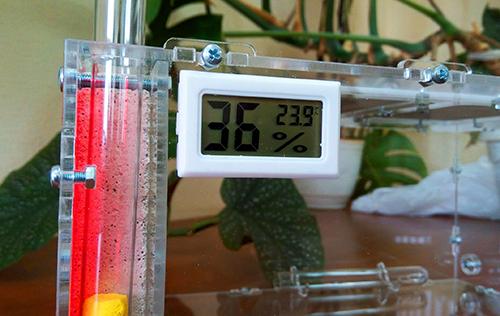Гигрометр + термометр цифровой белый