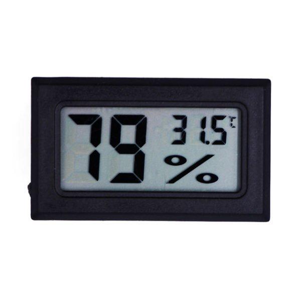 Гигрометр + термометр цифровой черный