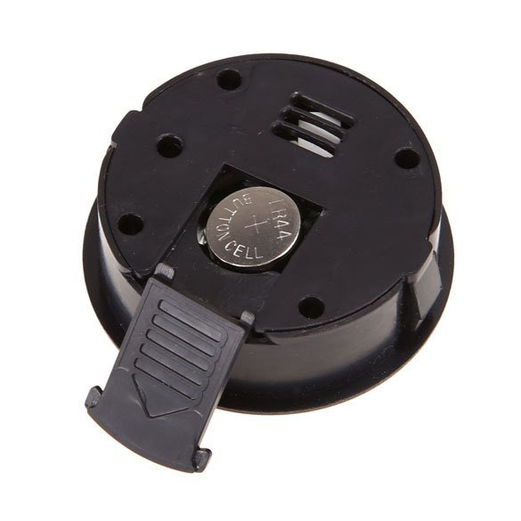 Гигрометр-термометр цифровой круглый чёрный