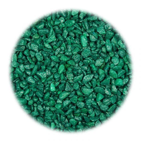 Грунт зелёный, мелкая фракция