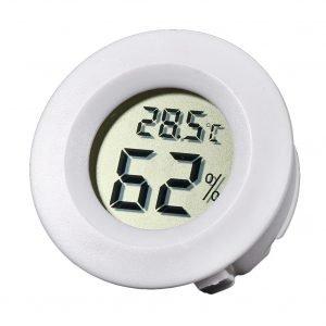 Гигрометр-термометр цифровой круглый белый