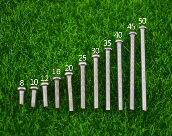 Винт M3 длинной 8-50мм (DIN 7985)