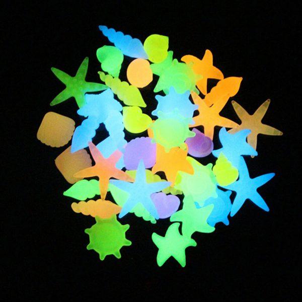 Светящиеся камни (5 шт, разные цвета)